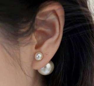🚚 香港正生銀飾 珍珠兩戴耳環