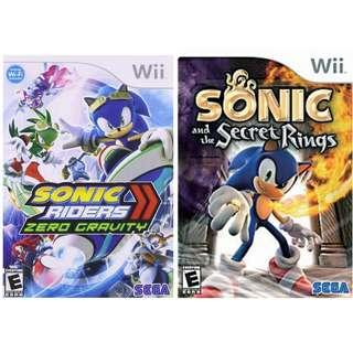 Promotion!!! Sonic Riders Zero Gravity + Sonic and the Secret Rings Nintendo Wii