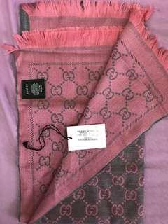 Classic Gucci Jacquard Pattern Knitted Scarf