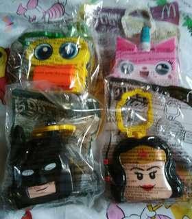 麥當勞玩具4件