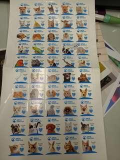 SPCA 愛護動物協會 旗紙 貼紙50個 寵物 狗仔 貓