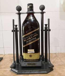 Johnny Walker bottle with holder