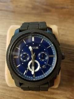 Fossil black pvd watch