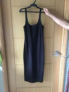 Forever21 bodycon black dress