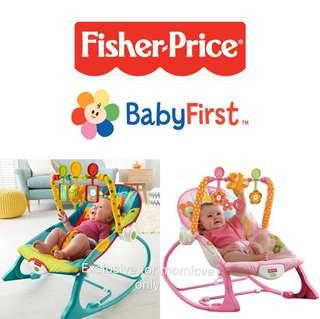 🚚 Ready Stock ! Brand New Fisher-Price Infant-to-Toddler Baby Rocker, Dark Safari (Infant Shower Newborn Full Moon Bouncer Baby Swing Present Gift)