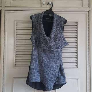 Something Borrowed black and white knit vest