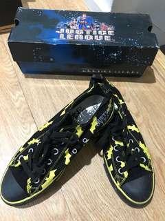 Batman justice league canvas shoes with yellow bats