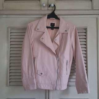 Forever 21 Pastel pink faux leather jacket