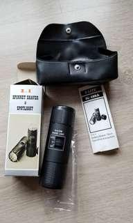 80-90s Vintage 2in1 Spinnet Shaver & spotlight 古董懷舊玩野電鬚刨電筒二合一