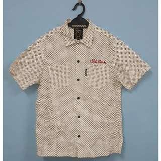 SCHOTT Mens Short-sleeved Polka Dot shirt size M