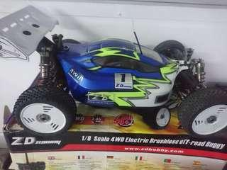 Zd racing 9020 rc car 1/8 brushless buggy