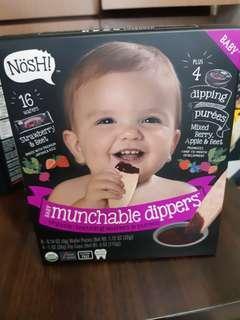 NOSH  baby organic teething wafers&purees