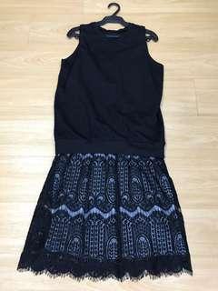 Be Present Overlay Top Midi Dress