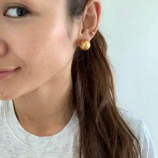14mm Golden South Sea pearl 14k gold