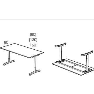 ikea gallant table frame and extendable legs