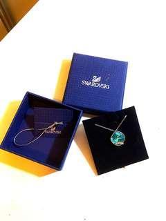 🚚 SWAROVSKI 施華洛世奇 加勒比藍 藍色 水晶 項鏈