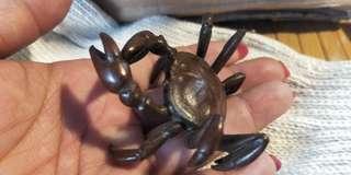 🚚 紅銅螃蟹香插 壺蓋托 鐵壺置蓋托 筆架 筷架
