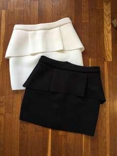 Something Borrowed Neoprene Peplum Skirt