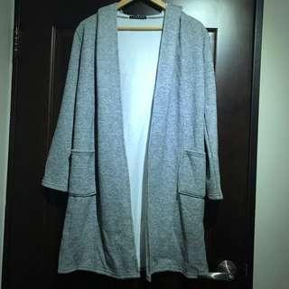 日本INGNI 長版灰色針織大衣外套