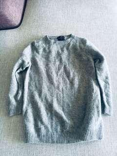Zara GREY 100% wool pullover
