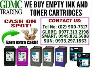 BUYER OF BNEW EXPIRED. EMPTY INK AND TONER CARTRIDGES