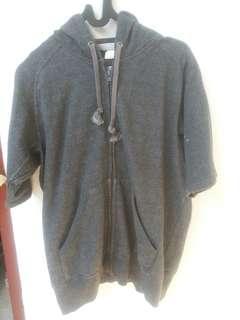Sweater Knitted Hoodie Short Sleeves