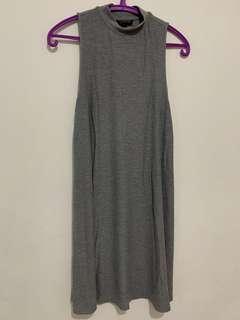 Topshop turtle neck dress in grey