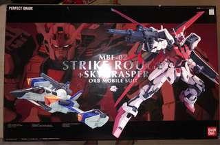 高達模型 正品 已砌 PG strike rouge + skygrasper
