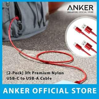 Anker 3ft Premium Double-Braided Nylon USB-C to A Cable *2