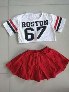 Girl's crop top and skort (4-6 year olds)