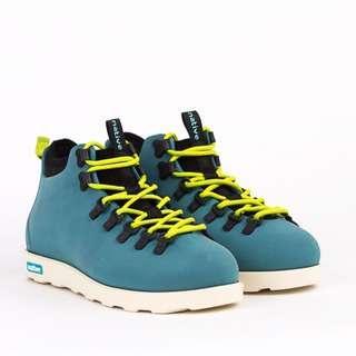 二手NATIVE FITZSIMMONS GLORY BLUE 湖水藍 螢光 綠 超輕量 登山靴
