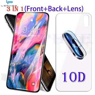 GOOD QUALITY IPHONE X/XS/XR/XSMAX FULL TEMPERED GLASS SETS