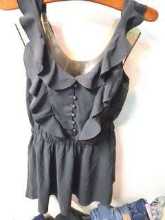 🚚 黑色背心洋裝