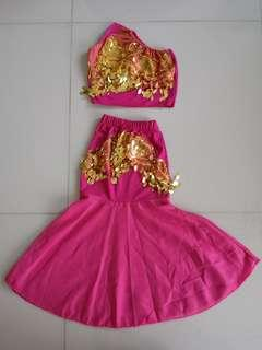 Girl's indian style crop top and skirt (5-6 year olds)