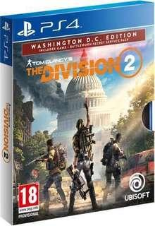 🚚 PS4 - The Division 2 - Washington Edition