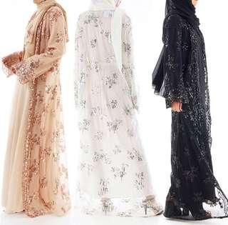 FREE POSTAGE (PRE-ORDER) Sequin Luxury Abaya (inner dress is not included)