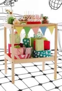 Repriced! Ikea table,with baby mat & baskets