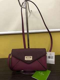 Brand New Kate Spade Fuschia Purple Bag Wallet combo