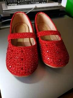 Red Glittered Shoes