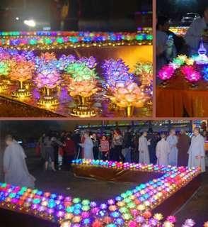 現貨。LED七彩蓮花供燈 念佛機 十二首佛曲 高音質念佛機 蓮花燈 供佛燈 可