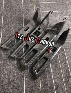 Mitsubishi Evolution X Carbon power window panel