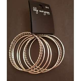 New Silver Multiple Bangle Bracelet
