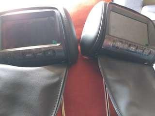 Monitor headrest