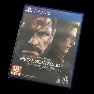 🚚 PS4 潛龍諜影5 原爆點 Metal Gear Solid V Ground Zeroes 二手 近全新 無刮 日英版