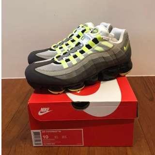 出售 Nike Air VaporMax 95 OG Neon 經典螢光黃配色 AJ7292-001 全新台灣公司貨