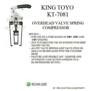 KING TOYO Overhead Valve Spring Compressor