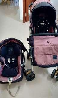 Baby Elle Stroller dan Car Seat