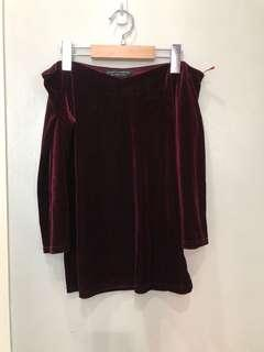 Dorothy Perkins Velvet Off Shoulder
