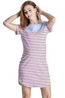 🚚 Brand new striped nursing dress