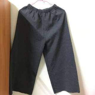 🚚 灰色針織寬褲(實穿)